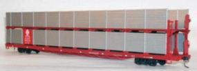 Accurail 89 Bi-Level Partially-Enclosed Auto Rack Santa Fe HO Scale Model Train Freight Car #9401