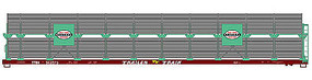 Accurail 89 Partially Enclosed Bi-level Auto Rack Kit NY HO Scale Model Train Freight Car #9405