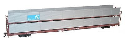 Accurail 89' Partially Enclosed Bi-level Auto Rack Kit GN -- HO Scale Model Train Freight Car -- #9412