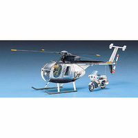 HUGHES 500D POLICE COPTER Plastic Model Helicopter Kit 1/48 Scale #12249