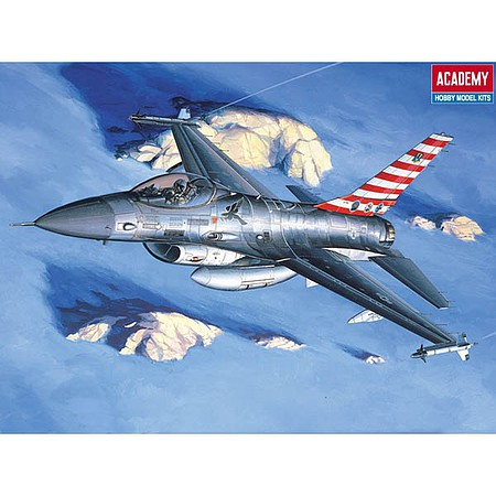 Academy Plastics F-16A/C Falcon USAF -- Plastic Model Airplane Kit -- 1/48 Scale -- #12259