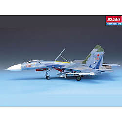 Academy Plastics SU27 Flanker B USSR Fighter -- Plastic Model Airplane Kit -- 1/48 Scale -- #12270