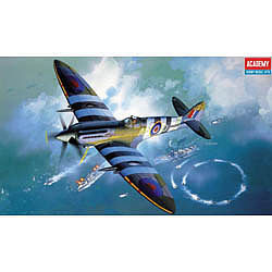 Academy Spitfire Mk XIV C RAF Fighter Plastic Model Airplane Kit 1/48 Scale #12274