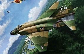 Academy F-4C USAF VIETNAMESE WAR Plastic Model Airplane Kit 1/48 Scale #12294