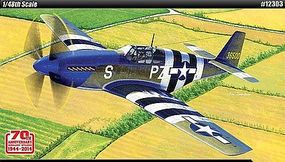 Academy P-51B 70th Anniversary Normandy Invasion Plastic Model Airplane Kit 1/48 Scale #1230
