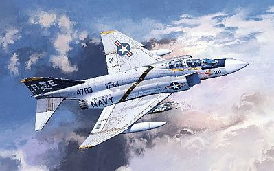 Academy Plastics F-4J VF-84 Jolly Rogers -- Plastic Model Airplane Kit -- 1/48 Scale -- #12305
