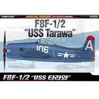 Academy F8F-1/2 USS Tarawa Ltd. Ed. Plastic Model Airplane Kit 1/48 Scale #12313