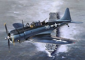 Academy WWII SBD5 USN Bomber Battle of the Philippine Sea Plastic Model Airplane Kit 1/48 #12329