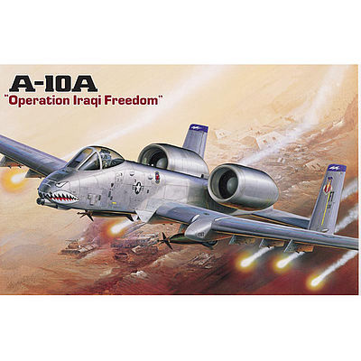 Academy Plastics A-10A Plane Operation Iraqi Freedom -- Plastic Model Airplane Kit -- 1/72 Scale -- #12402