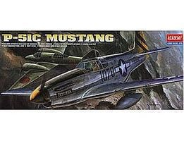 Academy P51C Mustang Fighter Plastic Model Airplane Kit 1/72 Scale #12441