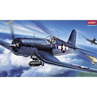 Academy F4U1 Corsair Fighter Plastic Model Airplane Kit 1/72 Scale #12457