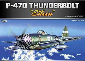 Academy P47D Thunderbolt Eileen Fighter Plastic Model Airplane Kit 1/72 Scale #12474