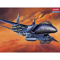 Academy F15E Strike Eagle USAF Fighter Plastic Model Airplane Kit 1/72 Scale #12478