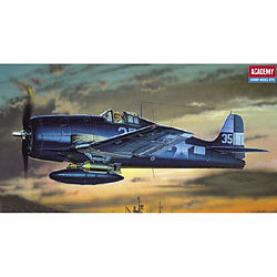 Academy Plastics F6F3/5 Hellcat US Fighter -- Plastic Model Airplane Kit -- 1/72 Scale -- #12481