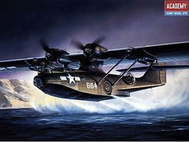 Academy PBY5A Black Cat Aircraft Plastic Model Airplane Kit 1/72 Scale #12487