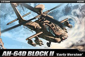 Academy AH-64D Block II Plastic Model Airplane Kit 1/72 Scale #12514