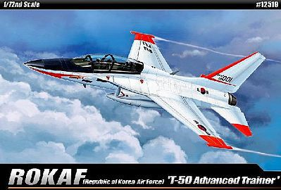 Academy Plastics ROKAF T50 Advanced Trainer Aircraft -- Plastic Model Airplane Kit -- 1/72 Scale -- #12519