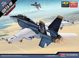 Academy F/A-18F USN VFA-103 Jolly Rogers MCP Plastic Model Airplane Kit 1/72 Scale #12535