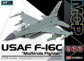 Academy F-16C USAF Multirole Fighter MCP Plastic Model Airplane Kit 1/72 Scale #12541