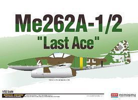 Academy Me262A-1/2 Last Ace Ltd. Ed. Plastic Model Airplane Kit 1/72 Scale #12542