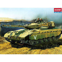 Academy Merkava Battle Tank with Motor Motorized Plastic Model Vehicle Kit 1/48 Scale #1301