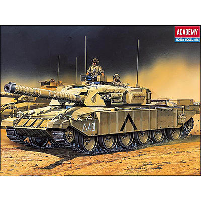Academy Plastics Challenger Battle Tank with Motor -- Motorized Plastic Model Vehicle Kit -- 1/48 Scale -- #1303