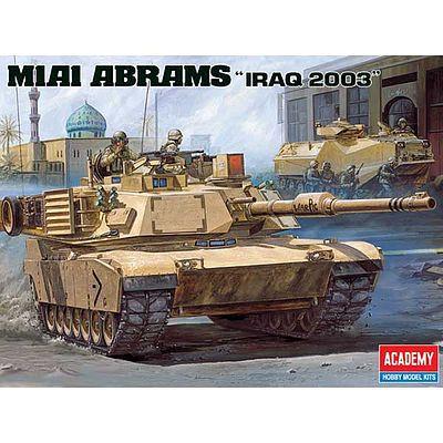 9461ec8230a2eb Academy M1A1 Abrams US Army Tank Iraq 2003 Plastic Model Military Vehicle  Kit 1/35 #13202. >