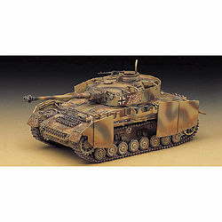 Academy PzKpfw IV Ausf H4 Tank Plastic Model Military Vehicle Kit 1/35 #13233