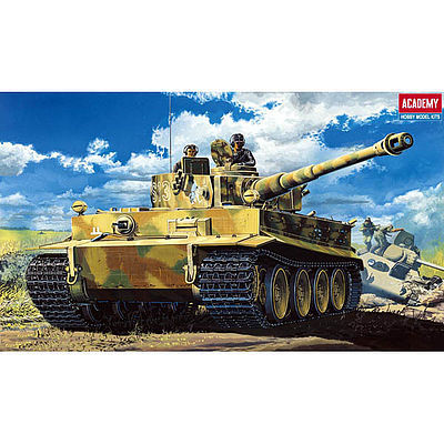 Academy WWII Tiger I Tank w/Interior Plastic Model Military Vehicle Kit 1/35 #13239