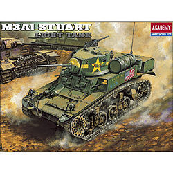 Academy M3A1 Stuart Light Tank Plastic Model Military Vehicle Kit 1/35 #13269