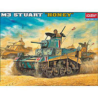 Academy British M3 Stuart Honey Tank Plastic Model Military Vehicle Kit 1/35 #13270