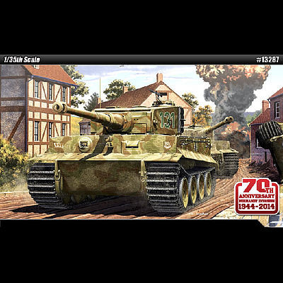 Academy Tiger I Mid Version Tank Normandy Invasion Plastic Model Military Kit 1/35 Scale #13287