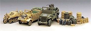 Academy WWII Ground Vehicle Set 1/72 Scale Plastic Model Military Vehicle Kit #13202