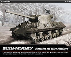 Academy US Army M36/M36B2 Battle of the Bulge Plastic Model Military Vehicle Kit 1/35 Scale #13501