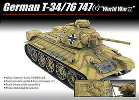 Academy German T-34/76 747(r) Plastic Model Airplane Kit 1/35 Scale #13502