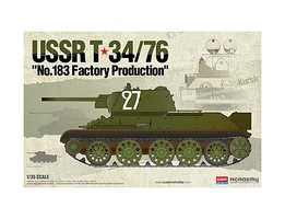 Academy T-34/79 No.183 Factory Production Plastic Model Military Tank Kit 1/35 Scale #13505