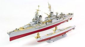 Academy USS Indianapolis CA-35 Premium Plastic Model Military Ship Kit 1/350 Scale #14113