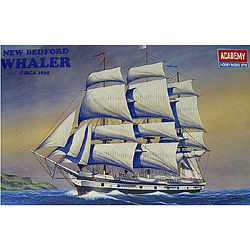 Academy Bedford Whaler Plastic Model Sailing Ship Kit 1/200 Scale #14204