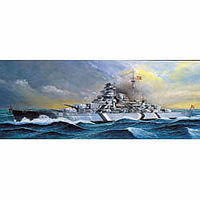Academy Bismarck Battleship (Motorized) Plastic Model Battleship Kit 1/800 Scale #14208