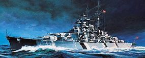 Academy Tirpitz Battleship (Motorized) Plastic Model Battleship Kit 1/800 Scale #14211