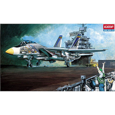 Academy Plastics U.S. Navy F-14A Tomcat -- Plastic Model Airplane Kit -- 1/48 Scale -- #1659