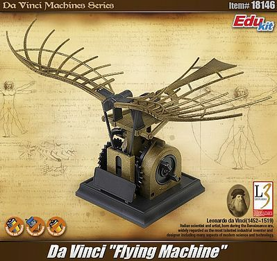 Academy DaVinci Flying Machine Snap Tite Plastic Model Aircraft/Spacecraft Kit #18146