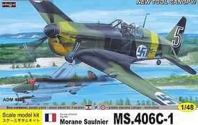 Admiral Morane Saulnier MS406C1 Fighter Plastic Model Airplane Kit 1/48 Scale #4806