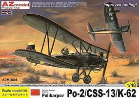 Admiral Polikarpov Po2/CSS13/K62 Aircraft Plastic Model Airplane Kit 1/48 Scale #4808