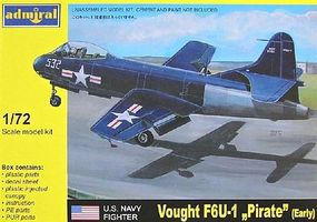 Admiral F6U1 Pirate Early USN Jet Fighter Plastic Model Airplane Kit 1/72 Scale #7211