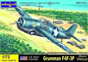 Admiral F4F3P Recon Wildcat USN Fighter Plastic Model Airplane Kit 1/72 Scale #7217