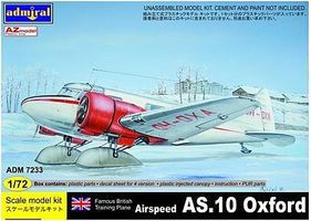Admiral Airspeed AS10 Oxford Aircraft (New Tool) Plastic Model Airplane Kit 1/72 #7233