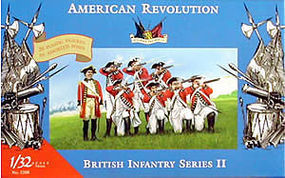 Accurate-Figures British Infantry Set II Revolutionary War Plastic Model Military Figure 1/32 #3208