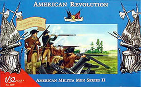 Accurate-Figures American Militia Set II Revolutionary War Plastic Model Military Figure 1/32 #3209