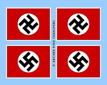 Archer Fine Transfers German National Flag -- Plastic Model Vehicle Decal -- 1/35 Scale -- #35008